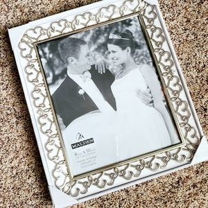 Wedding Picture Frame 8x10 Bridal Gift Rhinestone